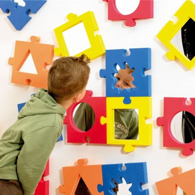 Jigsaw Softie Mirrors,Sensory Toys, Special Needs Toys, Foam mirror, Mirror shape, Softie mirror, sensory mirrors, visual effects, mirrors for children with special needs, self awareness, recognition skills, reflection toys